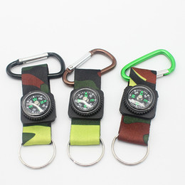 Wholesale Wood Photo Frames Wholesale - Mountaineering buckle compass aluminum buckle behind the ribbon direction navigation key outdoor climbing travel supplies