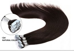 Wholesale Brazilian Hair 16 - Top Grade 8A quality Brazilian remy human hair straight PU tape on hair Extensions 16''-24'' tape hair extensions 100g pack 40pcs dhl free