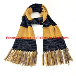 Wholesale Scarf Findings Wholesale - Wholesale- Newest Fantastic Beasts and Where to Find Them Move Jewelry Scarf Newt Scamander Scarf Hogwarts Faculties Scarves Warm Gift