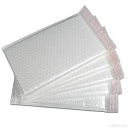 Wholesale Waterproof Mailing Envelopes - Wholesale- 10 pcs lot 3 Size Pearlised Film Bubble Envelope Courier Bags Waterproof White Mailing Packaging Bag 03232
