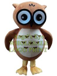 Gewohnheit eule kostüm online-braune Eule Maskottchen Ocstume Cartoon Eule Maskottchen benutzerdefinierte Cartoon Charakter Erwachsene Größe Cosply Karneval Kostüm 3226