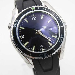 Wholesale Automatic Tachymeter - Wholesale - Top quality luxury Men's Sea.Watch Master Watches rubber band male 232 30 ,Rotating Noctilucent bezel TACHYMETER SCALE watches
