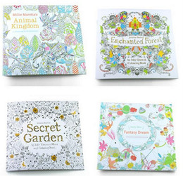 Wholesale Coloring Christmas - Secret Garden Coloring Book Painting Drawing Book theme 24 Pages Animal Kingdom Relieve Stress For Children Adult Christmas Gifts
