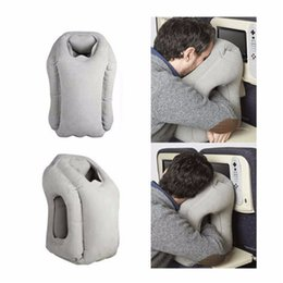 Wholesale Inflatable Travel Cushion - Inflatable Cushion Travel Pillow The Most Diverse & Innovative Pillow for Traveling Airplane Pillows Neck Chin Head Support Car Airplane