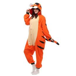 Wholesale White Tiger One Piece - HappyBuy Kigurumi Onesies For Adult Animal Onesies Pajamas Rainbow Unicorn Bengal Tiger Onesies One Piece Pajama Sleepwear Costume