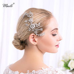 Wholesale Luxury Diamond Hair Accessories - 2018 Luxury Bridal Hair Comb Rhinestone Bridal Head Piece Wedding Headpiece Wedding Hair Jewelry Bridal Hair Accessories Hairpiece