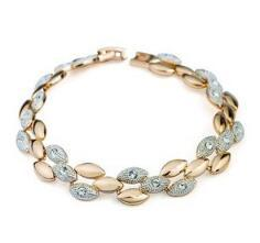 Zarif 18 K Altın Kaplama Elmas Zincir Bileklik Ve Taşlar Kadın Trend Takı Xmas Hediye cheap gem diamonds nereden mücevher elmasları tedarikçiler
