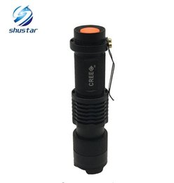 Wholesale Cree Q5 Led Zoomable - Super bright Mini LED Flashlight CREE Q5 2000LM Waterproof 3Modes zoomable adjustable focus Lanterna For Camping Outdoor Night
