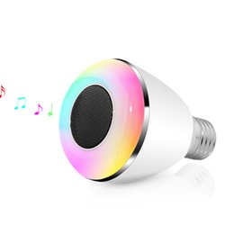 Wholesale Docking Speaker For Ipad - Multi-Color Smart LED Blub Light Wireless Bluetooth Speaker LED Lights110V-240V E27 3W Lamp Audio for iPhone 5S 5C 5 iPad BL08A