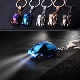Deutschland Tragbare LED Light Keychain Favors Taschenlampe Legierung Auto Form Schlüsselring Mode Auto Schlüssel Zubehör Schlüsselanhänger Anhänger Versorgung