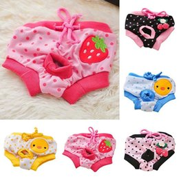Wholesale Dog Clothing Sanitary - Puppy Pet Dog Cotton Print Cozy Sanitary Physiological Pants Pet Underwear Diapers Pet Clothes