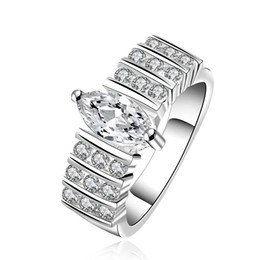 Wholesale Crysta Set - Crysta CZ Silver plated new design finger ring for lady Size 6-9