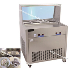 Wholesale Air Frying - Free Shipping Stainless Steel 110v 220v Electric Yogurt Fry Ice Pan Maker Fried Ice Cream Machine Ice Cream Roll Making Machine