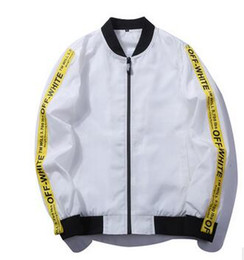 Wholesale Han Baseball Jacket - M~5XL! 2017 New Men's clothing Plus size Han edition tide Cultivate one's morality ribbon young white Baseball sport jacket