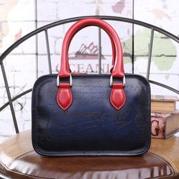 Wholesale Hand Bag Love - wholesale love letter Vegetable tanning leather hand colored Vintage handbag totes fashion mini hand bags