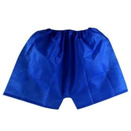 Wholesale Travel Disposable Panties - 100X Men Underwear Boxers Non-Woven Disposable Sauna Shorts Underwear Boxers Men Massage Spa Travel Clothing travel essential panties