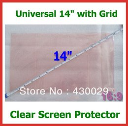 Wholesale Screen Notebook 14 Inches - Wholesale- 5pcs Universal Clear LCD Screen Protector with Grid 14 inch Size 310.5X176.5mm for Laptops Notebook Free Shipping