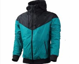 Wholesale Man Jacket Fabric - New 2017 windrunner classical Men sportswear high quality waterproof fabric Men jacket Fashion zipper hoodie jacket