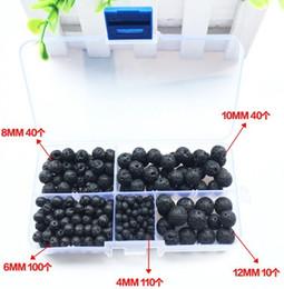 bouchon de perles de 9 mm Promotion Gros perles de roche de lave mode rond noir taille sélectionnable 4-12mm, perles de pierre naturelle pour la fabrication de bijoux Diy bracelet livraison gratuite
