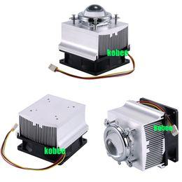 Wholesale Heat Sink Cooler - Wholesale- 1pc Aluminium Heat Sink Cooling Fan 20W 50W 100W High Power Led Light 80degree 44mm Lens +Reflector +Bracket
