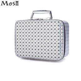 Wholesale Makeup Train Cases - Wholesale- Fashion Makeup Organizer Wholesale Price Cosmetic Case Professional Portable Travel Beauty Vanity Train Case Toiletry Pouch Bag