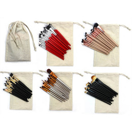 Wholesale Makeup Brushes Set Pieces - Hot Selling High Quality 20 pieces blusher&facial&eye shadow brushes makeup brushes cosmetic brushes set&kits with sack bag free shipping