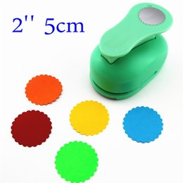 Wholesale Circle Punches - Wholesale- free ship large 2'' 5cm circle furador paper punches for scrapbooking craft perfurador diy puncher paper circle cutter3178
