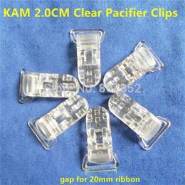 Deutschland Großhandels-50pcs 20mm freier transparenter KAM Plastikbaby-Schnuller-Schnuller-Schnullerhalter-Kettenclip-Hosenträger-Klipps für Band 2,0cm cheap plastic suspenders Versorgung