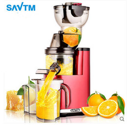 Wholesale Large Diameter - SAVTM Raw Juice machine Large Diameter Juicer Multifunctional Cooker Low Speed Juice Machine DHL Free Shipping