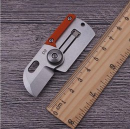 Wholesale Survival Necklace - Coin C188 DOG TAG mini folding knife D2 steel blade outdoor hunting necklace key chain EDC tools camping survival pocket Knives