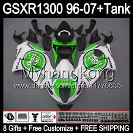 Wholesale Lucky Strike 96 Gsxr - 8gift Lucky Strike For SUZUKI Hayabusa GSXR1300 96 97 98 99 00 01 13MY107 GSXR 1300 GSX-R1300 GSX R1300 02 03 04 05 06 07 TOP white Fairing
