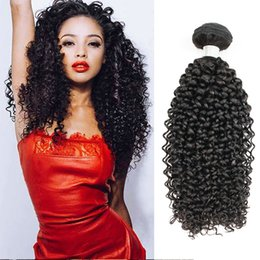 Wholesale virgin afro hair - Brazilian Jerry Curly Hair Extensions 3 Bundles Afro Style Natural Brown Peruvian Mongolian Raw Indian Virgin Human Hair Weave Bundles