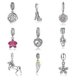 Wholesale genuine pandora bracelets - Hot Sale Genuine 100% 925 Sterling Silver Pendant Charm Beads Fit Original Pandora Bracelet Necklace Authentic Jewelry MUM Gift