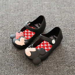 Wholesale Toddler Leather Sandals Buckle - New Summer Child Shoes Mini Sed Style Mickey Minnie Kids Toddler Baby Footwear Little Girls Crystal Jelly Shoes Children Beach Sandals
