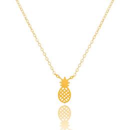 Оптовая продажа-DIANSHANGKAITUOZHE золото серебро розовое золото Шарм цепи тела ананас ожерелье кулон из нержавеющей стали Ananas ювелирные изделия для женщин supplier charm pendants pineapple от Поставщики шарм кулоны ананас