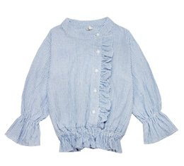 Wholesale Girls Korean Kid T Shirt - Girl's Shirt Long Sleeve Pants T-shirt Korean Style 2017 Autumn New Kids Wear Cotton Shirt Children's Autumn Kids Clothing