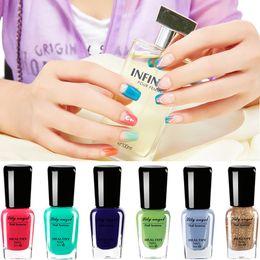 Wholesale Nail Art 48 Colors - Wholesale-Lilyangel 2016 New Arrive 48 Colors Soak-Off Bling Nail Polish ECO-FRIENDLY Enamel Glitter Sequins Nail Polish For Nail Art