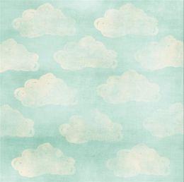 Wholesale White Vinyl Backdrops - White Clouds Patterns Baby Newborn Photo Prop Studio Background Computer Printed Children Kids Photography Backdrops Vinyl Fabric