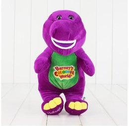 Wholesale Dinosaur Plush - Singing Friends Dinosaur Barney Sing I LOVE YOU Plush Doll Toy Christmas Gift For Children Dinosaur Toys 28cm KKA2791