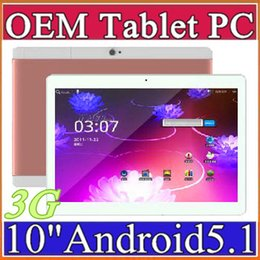 Wholesale Tablets 3g High Quality - DHL High quality 10 inch MTK6580 IPS capacitive touch screen dual sim 3G tablet phone pc tablet 10 inch android 5.1 G-10PB
