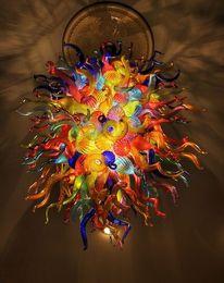 Argentina Moderno LED Luz de techo Color múltiple Moderno arte soplado Araña de cristal y Ahorro de energía Fuente de luz LED Diseño de casa Araña Suministro