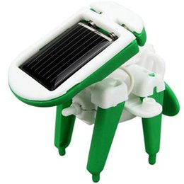 Wholesale Solar Powered Toys Kit - Wholesale- Funny 6 in 1 Creative DIY Education Learning Power Solar Robot Kit Children Toys Gift