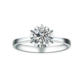 Wholesale Gia Certificate Diamond - US GIA certificate 100% Real Solid 925 Sterling Silver Rings Wedding Rings for Women Silver Fine Jewelry
