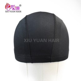 Wholesale Hair Nets For Wigs - Xiuyuan Spandex Dome Cap With Very Good Elasticity For Caps Black Weave Cap Invisible Hair Making Wigs Spandex Net Elastic Dome Wig Cap