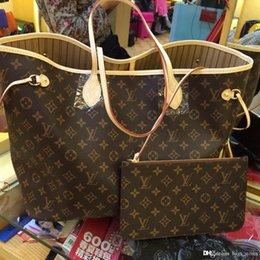 Wholesale Chain Genuine Leather - Fashion Women Bag Shoulder Bags L Brand V Designer Lous Never Full Mono Lockit gram Leather Handbags Vutton Women 6s3 Tote Bags