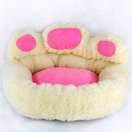 Wholesale Soft Pet Dog Nest Puppy - NICE Super Luxury Dog Bed Kennel Cozy Soft Warm Pet Puppy Cat Dog House Nest Bear Footprint 50cm M Size
