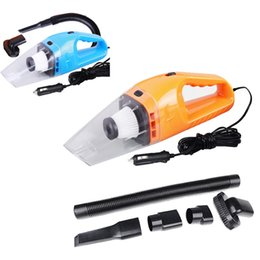 Wholesale Cleaning Interior - Wholesale-New Universal 12V 120W Suction Mini Vehicle Car Handheld Vacuum Dirt Cleaner Wet & Dry Car Interior Accessories Car Styling