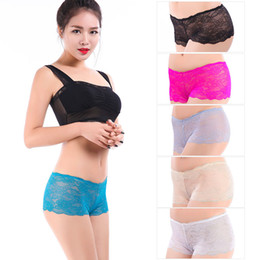 Wholesale Underwear For Women Xl - (MOQ 12pcs) Yun Meng Ni Sexy Underwear Transparent Lace Women Boyshorts Mature Panty Lingerie For Women