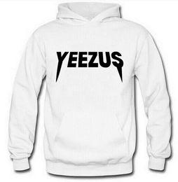 Wholesale New Brand Fashion Outwear - 2017 New Yeezus Kanye West Sweatshirts printed Hoody Men Hoodies Top brand Fashion printed men clothing outwear