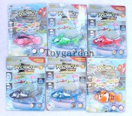 Wholesale Children Swimming - wholesale Swimming Robot Fish Activated in Water Magical Electronic Toy Children Gift free shipping